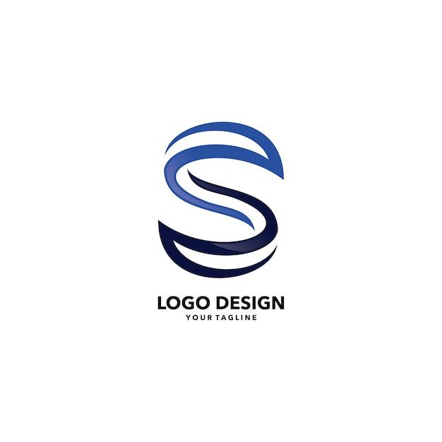 Abstract s lettre logo de l'entreprise modèle de vecteur Vecteur Premium
