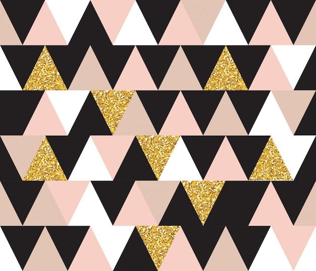 Abstract seamless pattern géométrique avec des éléments de paillettes. fond d'écran Vecteur Premium