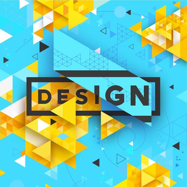 Abstract Vector Fond Clair Texturé Triangulaire Géométrique Pour, Entreprise, Impression, Web, Interface Utilisateur Et Autres Vecteur Premium