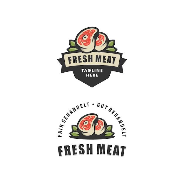 Abstract vector illustration viande fraîche modèle de conception Vecteur Premium