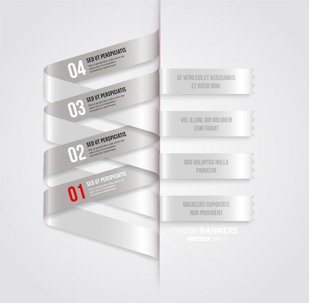 Abstraction Tag Tendance Options De Brochure Vecteur Premium