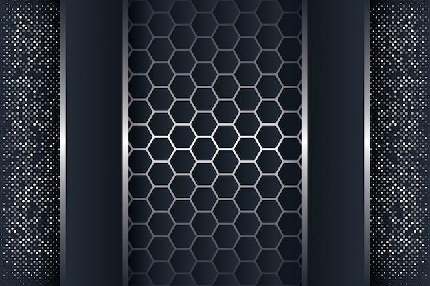 Abstrait 3d avec une combinaison de polygones lumineux. Vecteur Premium