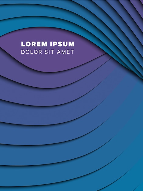Abstrait 3d avec du papier coupé des vagues. layout de conception de vecteur pour la présentation, flyer, affiche, bannière Vecteur Premium