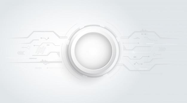 Abstrait 3d avec texture de carte de circuit imprimé point et ligne. Vecteur Premium