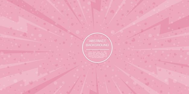 Abstrait amour saint valentin avec fond rose Vecteur Premium