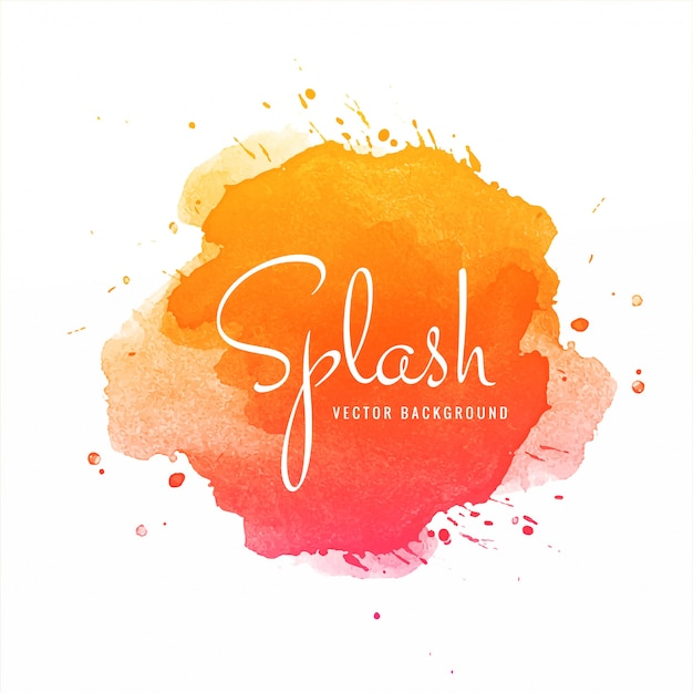 Abstrait aquarelle coloré splash Vecteur gratuit