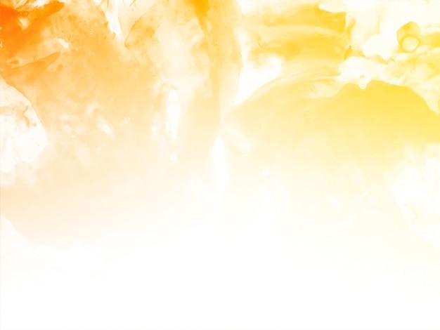 Abstrait Aquarelle Jaune Vecteur gratuit