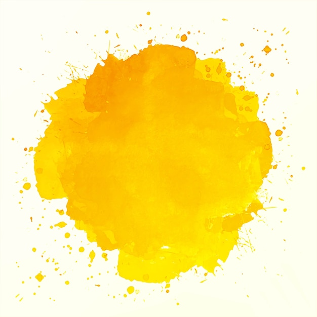 Abstrait Aquarelle Splash Orange Vecteur gratuit