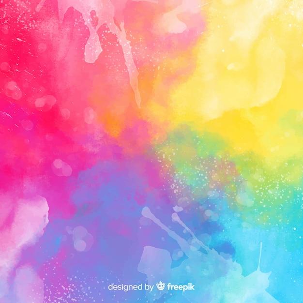 Abstrait aquarelle Vecteur gratuit