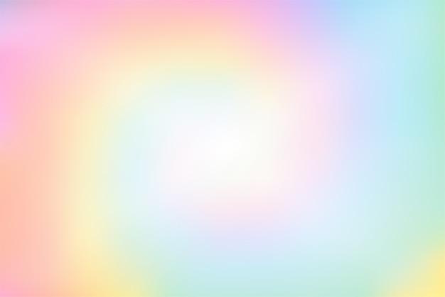 Abstrait arc-en-ciel coloré flou pastel Vecteur Premium