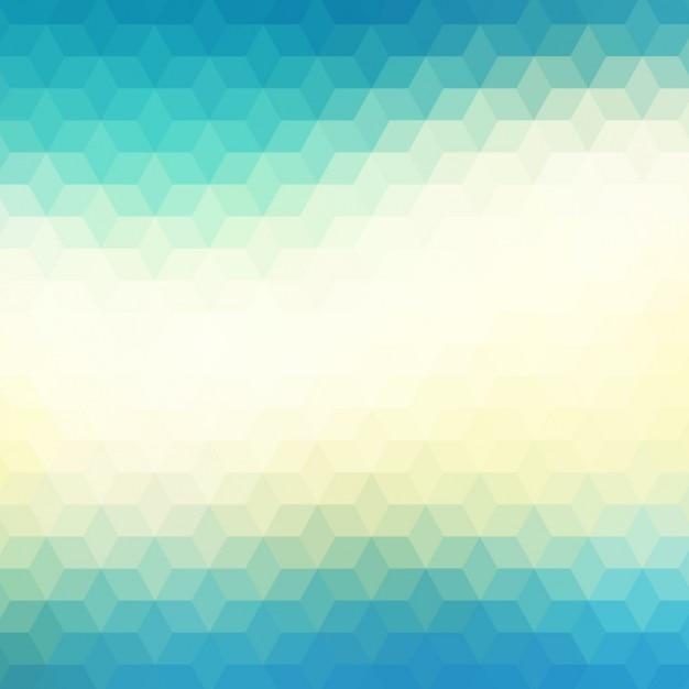 Abstrait arrière-plan géométrique dans les tons bleus et verts Vecteur gratuit