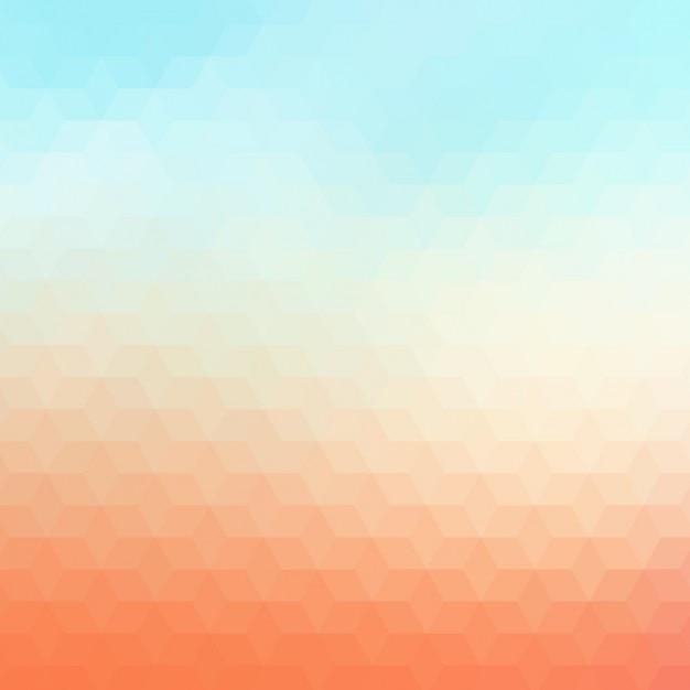 Abstrait arrière-plan géométrique dans des tons orange et bleu lumière Vecteur gratuit