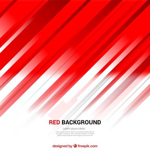 Abstrait arrière-plan rouge des lignes Vecteur gratuit