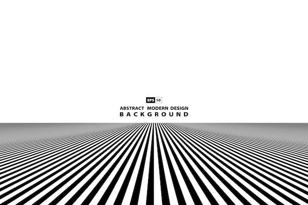 Abstrait Art De La Ligne Noir Et Blanc. Vecteur Premium