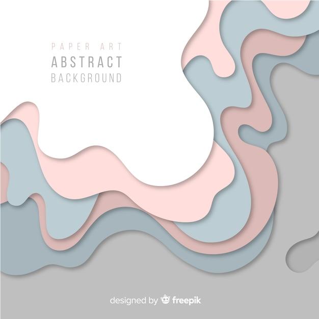 Abstrait art papier Vecteur gratuit