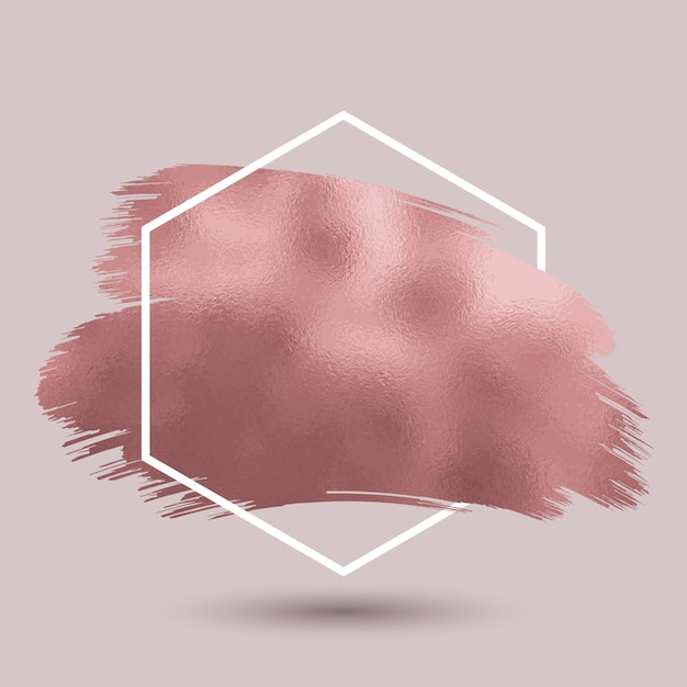 Abstrait avec texture or rose métallique Vecteur gratuit