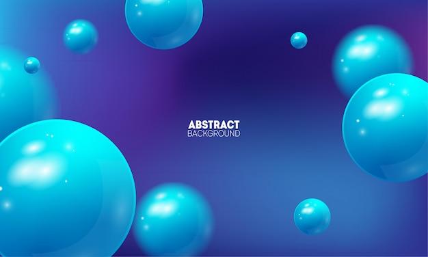 Abstrait Avec Beau Dégradé Et Balles 3d Volantes. Vecteur Premium