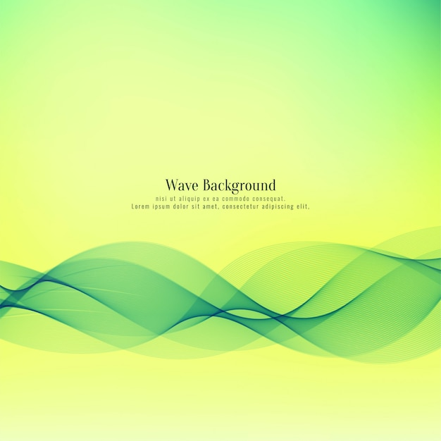 Abstrait belle vague verte Vecteur gratuit