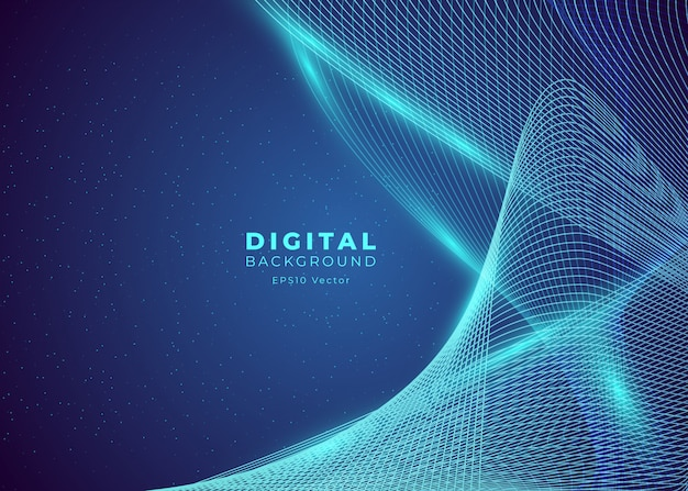Abstrait De Big Data Vecteur Premium