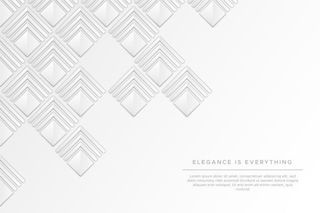 Abstrait Blanc Dans Un Style De Papier 3d Vecteur gratuit