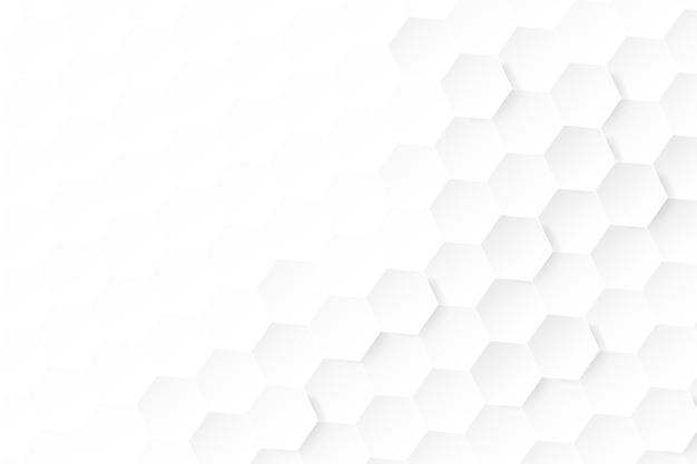 Abstrait Blanc Dans Un Style De Papier 3d Vecteur Premium