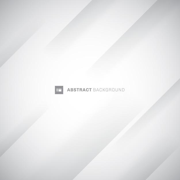 Abstrait blanc et gris moderne rayures diagonales Vecteur Premium