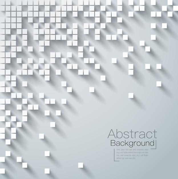 Abstrait blanc et gris Vecteur Premium
