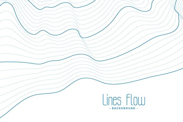 Abstrait blanc avec des lignes de contour bleu Vecteur gratuit