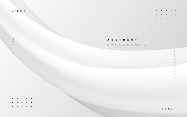 Abstrait blanc avec style fluide Vecteur gratuit