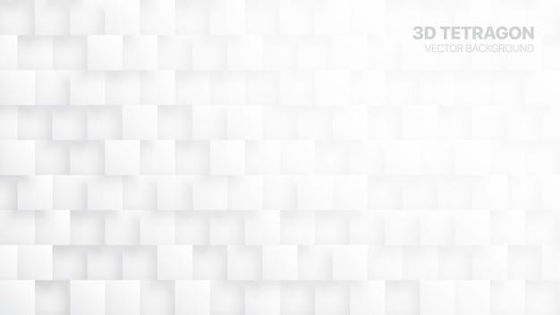 Abstrait Blanc Tétragons 3d Vecteur Premium