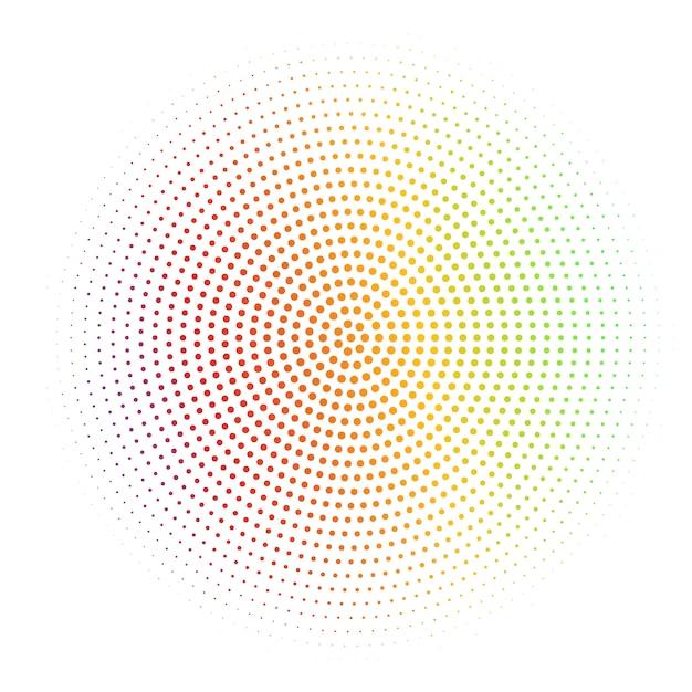 Abstrait blanc texturé avec demi-teinte argentée radiale Vecteur Premium