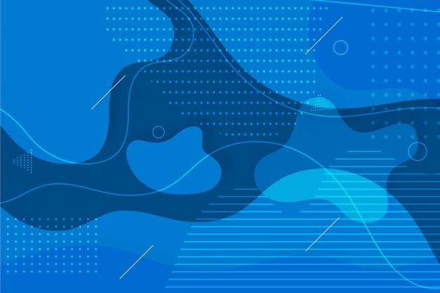 Abstrait Bleu Classique Avec Des Points Et Des Taches Vecteur gratuit