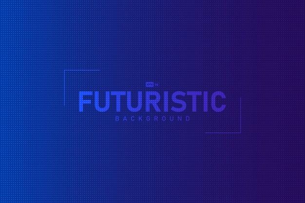Abstrait Bleu Dégradé Avec Fond De Conception Futuriste à Pois. Vecteur Premium