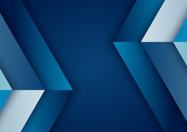 Abstrait Bleu Dégradé Géométrique Vecteur Premium