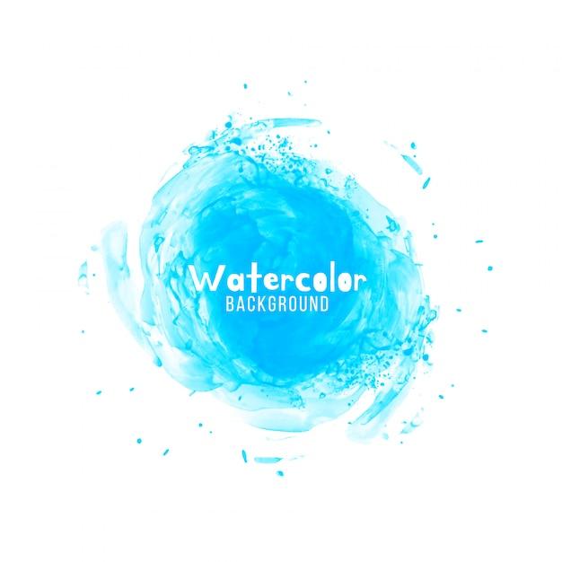 Abstrait bleu design aquarelle Vecteur gratuit
