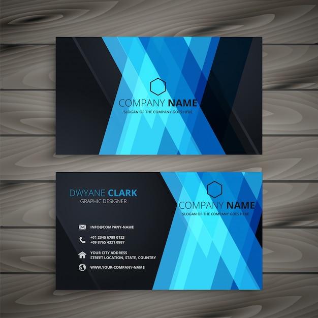 Abstrait bleu foncé design carte de visite Vecteur gratuit