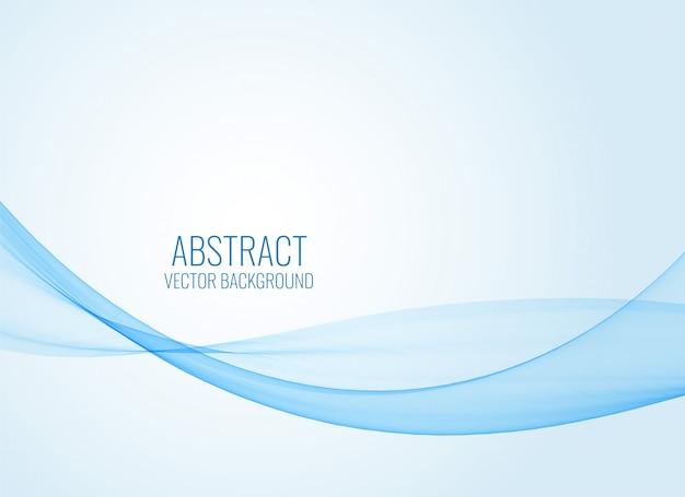 Abstrait bleu forme ondulée Vecteur gratuit