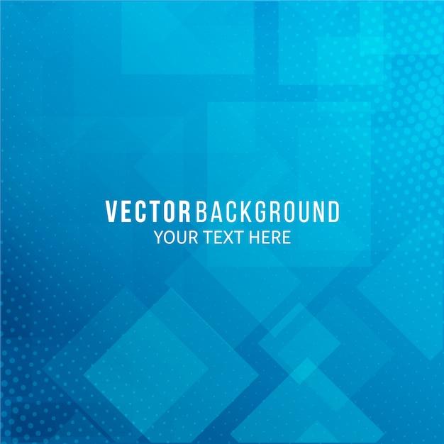Abstrait bleu de formes géométriques Vecteur Premium