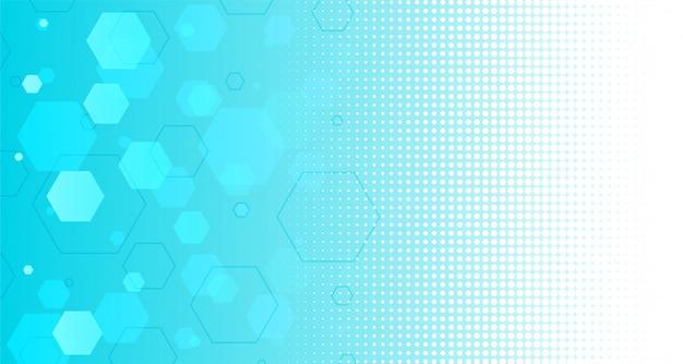 Abstrait bleu formes hexagonales Vecteur gratuit
