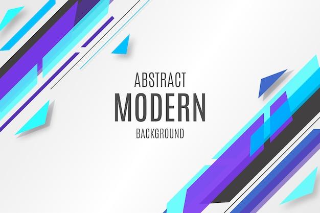 Abstrait bleu avec des formes modernes Vecteur gratuit