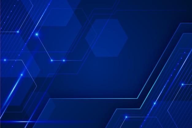 Abstrait Bleu Futuriste Vecteur gratuit