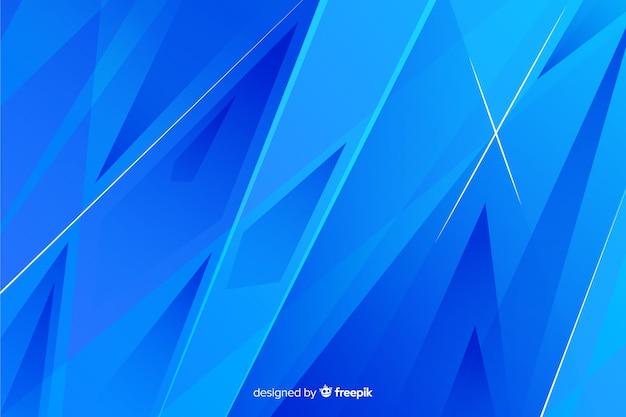 Abstrait bleu géométrique Vecteur gratuit