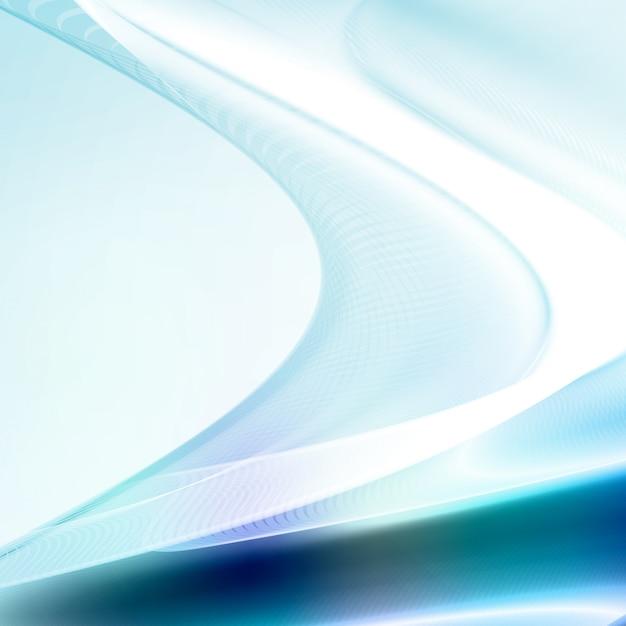 Abstrait bleu, illustration ondulée futuriste, concept d'art Vecteur Premium