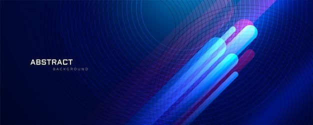 Abstrait bleu avec des lignes brillantes Vecteur gratuit