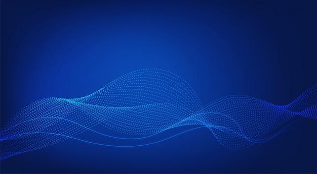 Abstrait Bleu Lignes Wave Modernes. Vecteur Premium