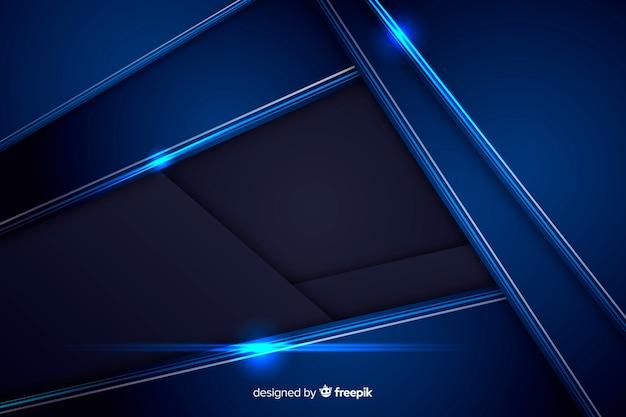 Abstrait bleu métallique brillant Vecteur gratuit