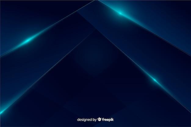Abstrait Bleu Métallique Vecteur gratuit