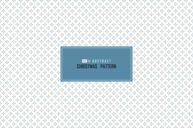Abstrait Bleu Noël Chute Neige Cercle Motif Sans Couture Décoration Minimale. Vecteur Premium