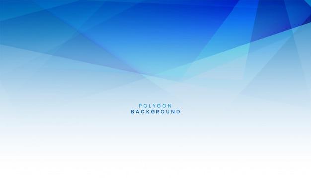 Abstrait Bleu Polygone Vecteur Premium