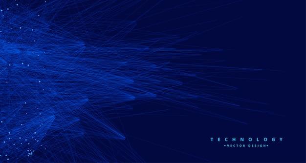 Abstrait bleu tachnologie big data ai Vecteur gratuit